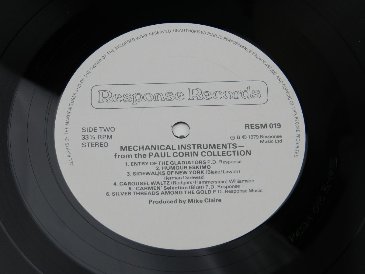 Various – Mechanical Instruments vinyl record side B label scaled