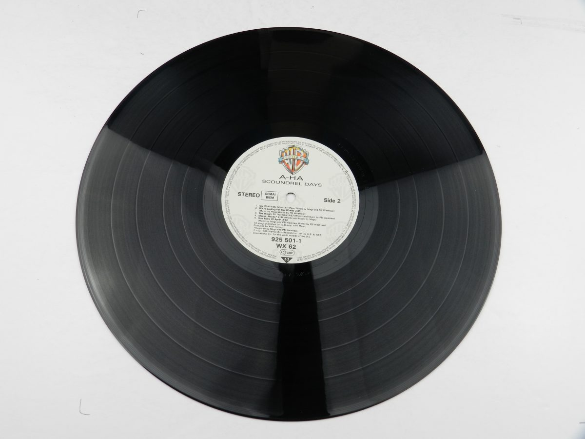 a ha – Scoundrel Days vinyl record side B scaled