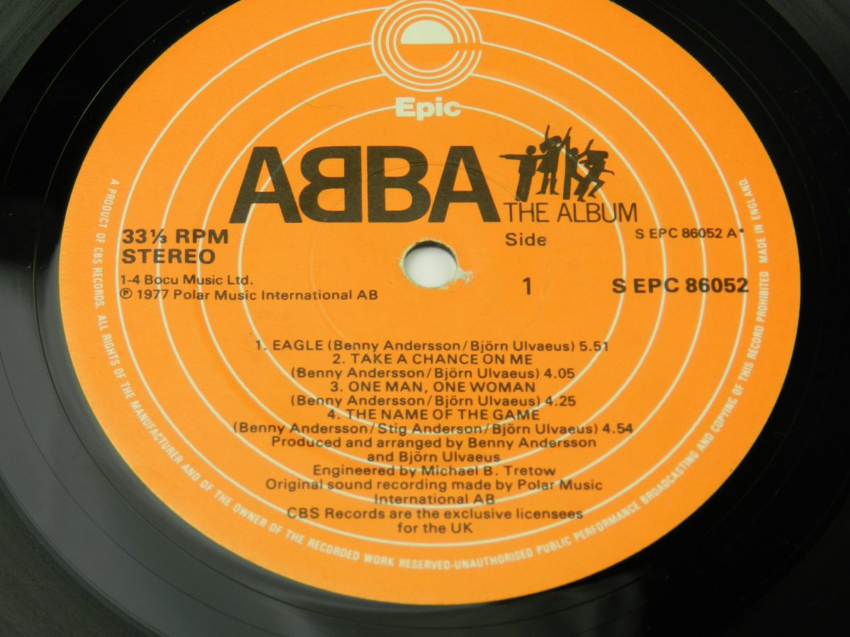 ABBA – The Album vinyl record side A label 1 scaled