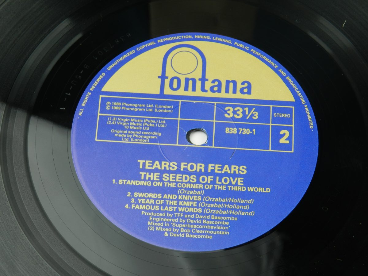 Tears For Fears – The Seeds Of Love vinyl record side B label scaled