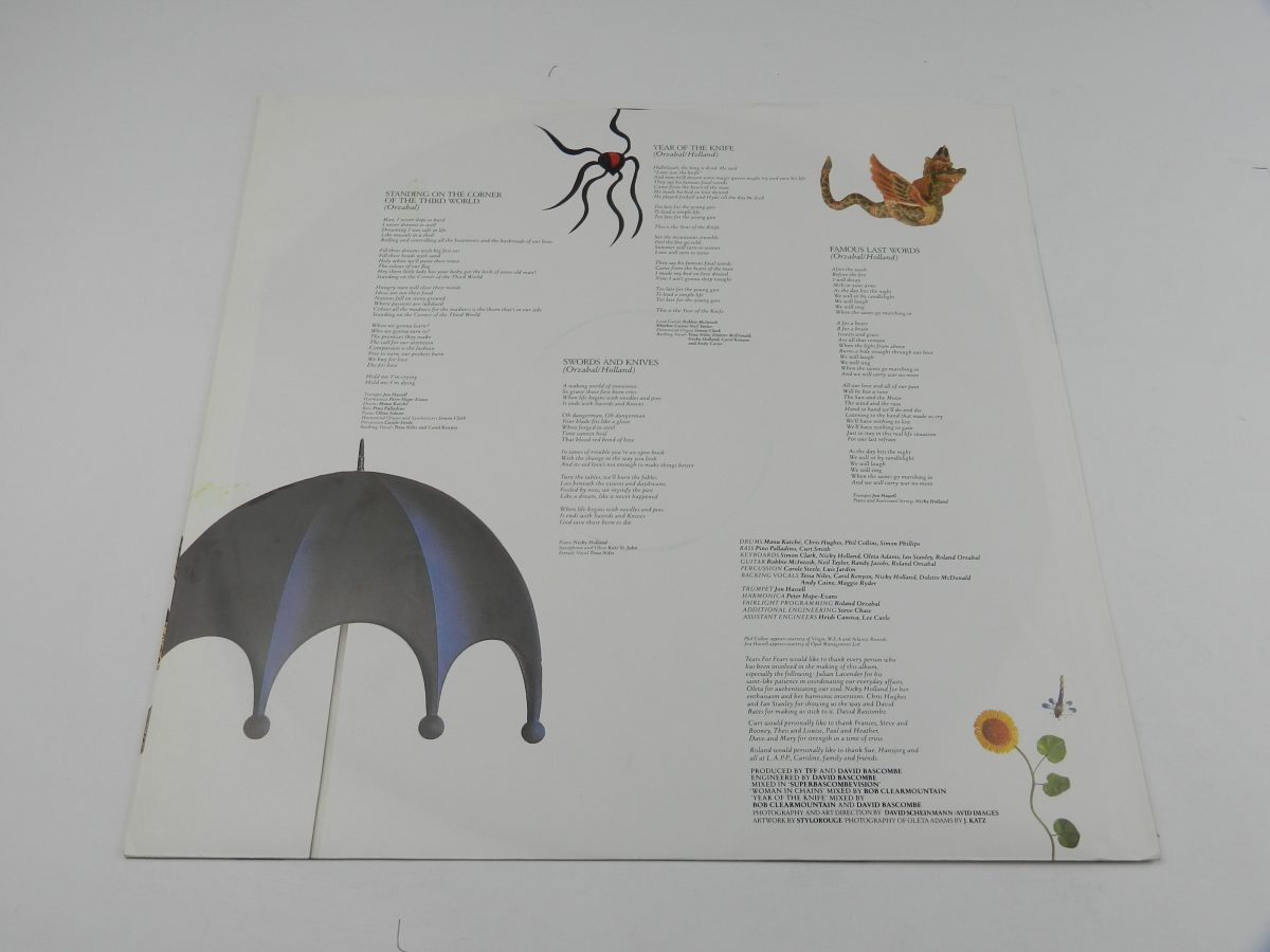 Tears For Fears – The Seeds Of Love vinyl record sleeve inner 2 scaled