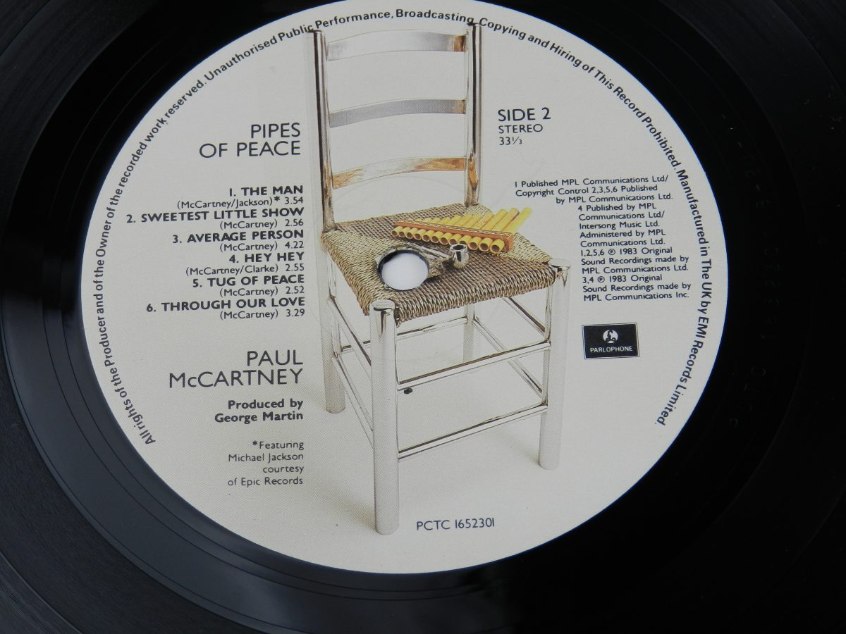 Paul McCartney – Pipes Of Peace vinyl record side B label scaled
