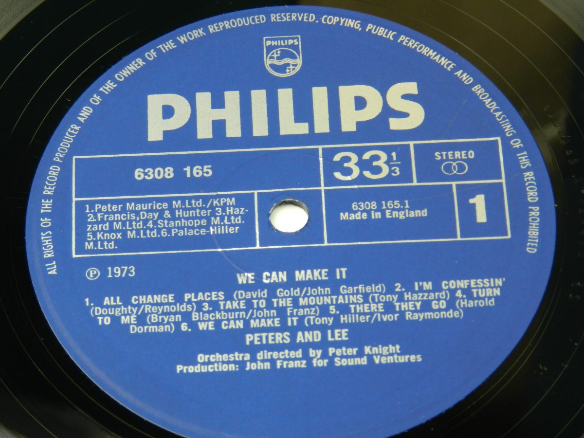 Peters Lee – We Can Make It vinyl record side A label scaled