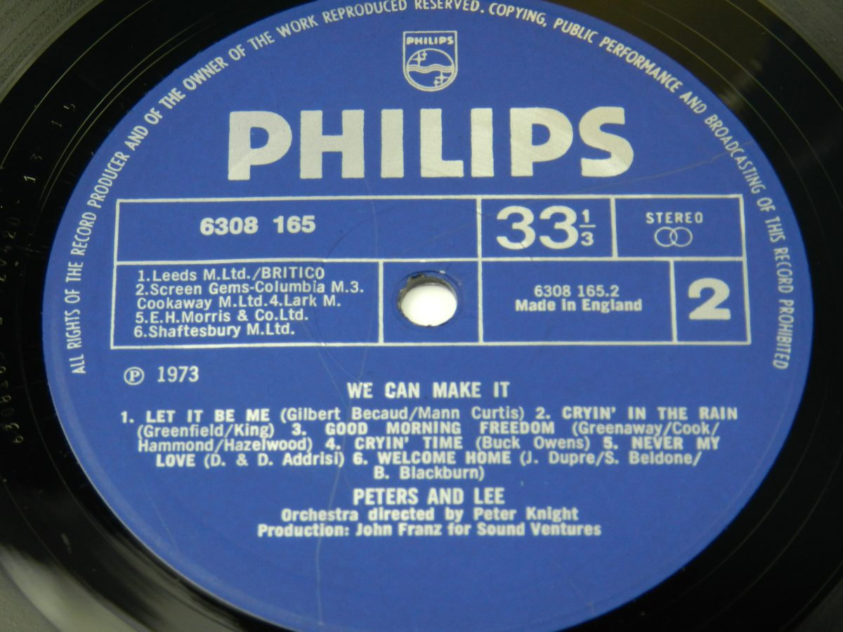 Peters Lee – We Can Make It vinyl record side B label scaled