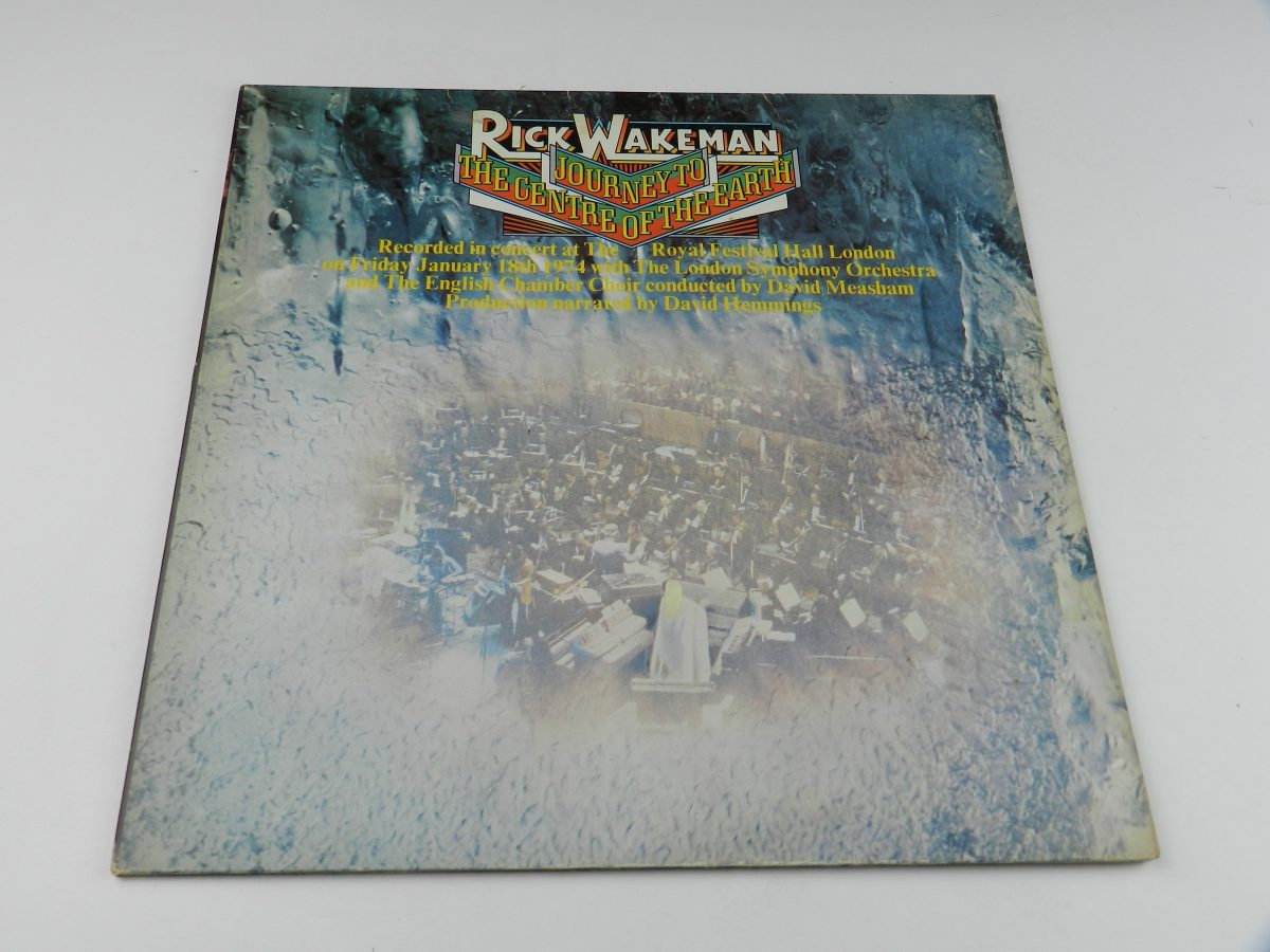 Rick Wakeman – Journey To The Centre Of The Earth vinyl record sleeve scaled
