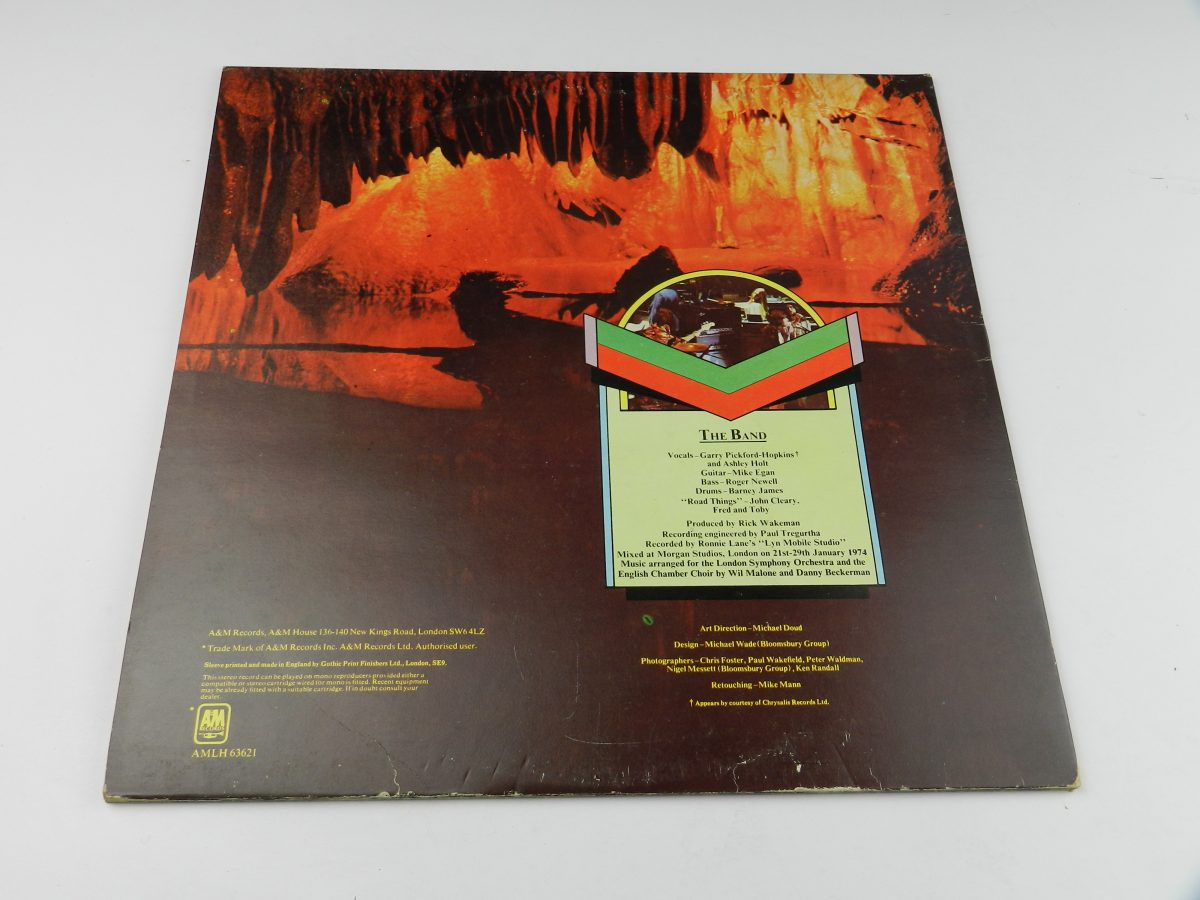 Rick Wakeman – Journey To The Centre Of The Earth vinyl record sleeve rear scaled