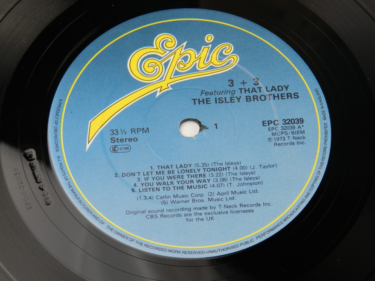 The Isley Brothers – 3 3 vinyl record side A label scaled