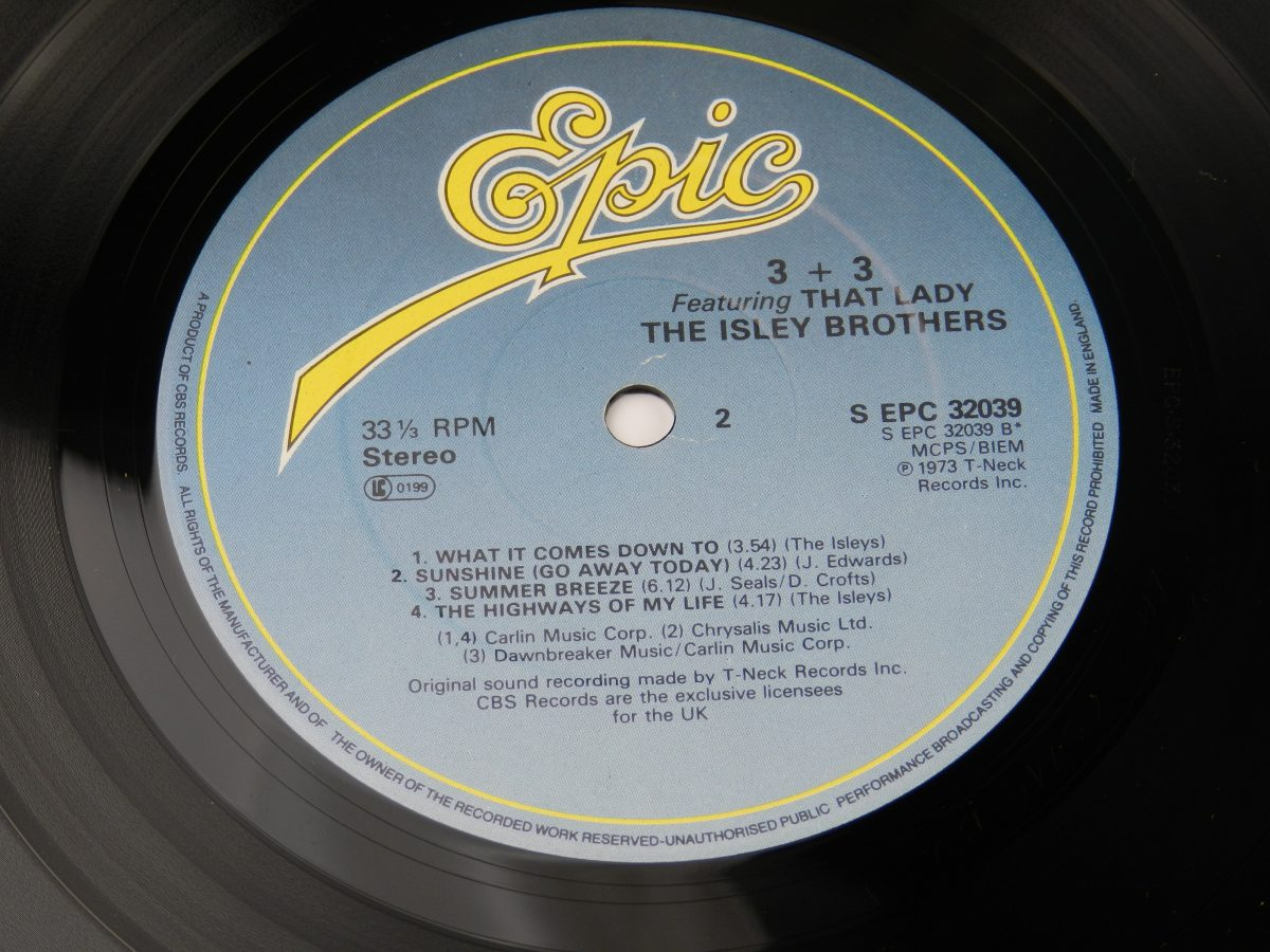 The Isley Brothers – 3 3 vinyl record side B label scaled
