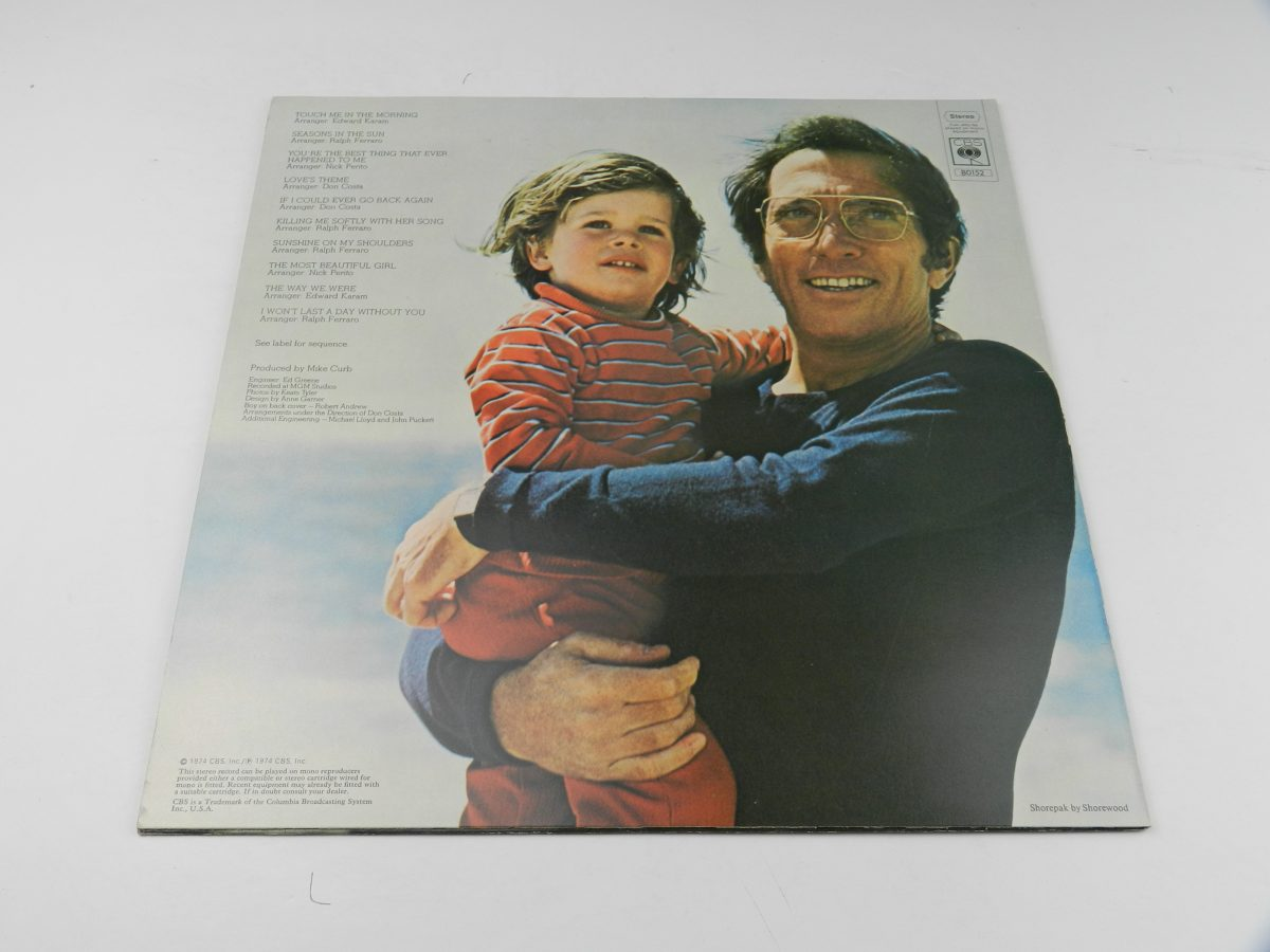 Andy Williams – The Way We Were vinyl record sleeve rear