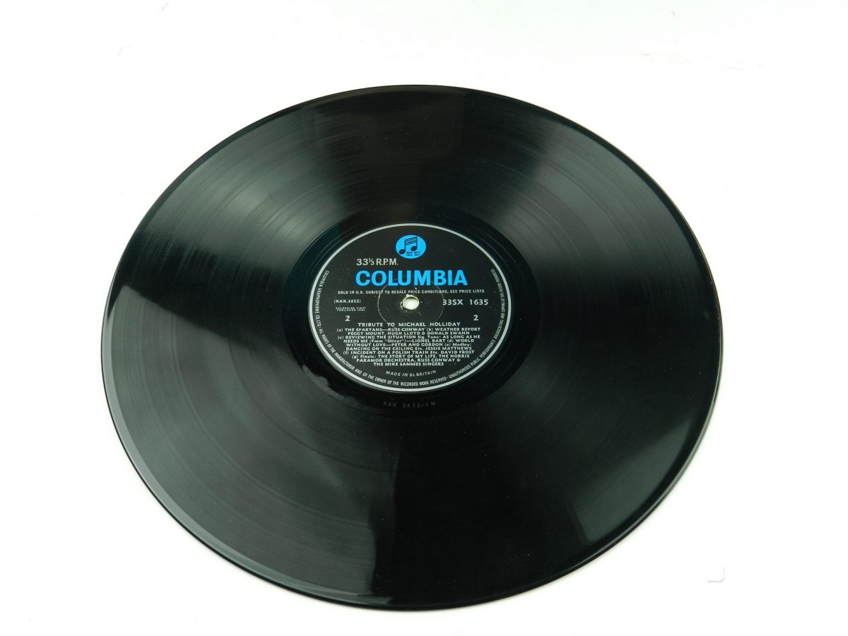 Various – Tribute To Michael Holliday vinyl record side B
