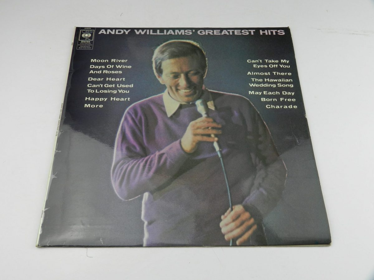 Andy Williams – Andy Williams Greatest Hits vinyl record sleeve