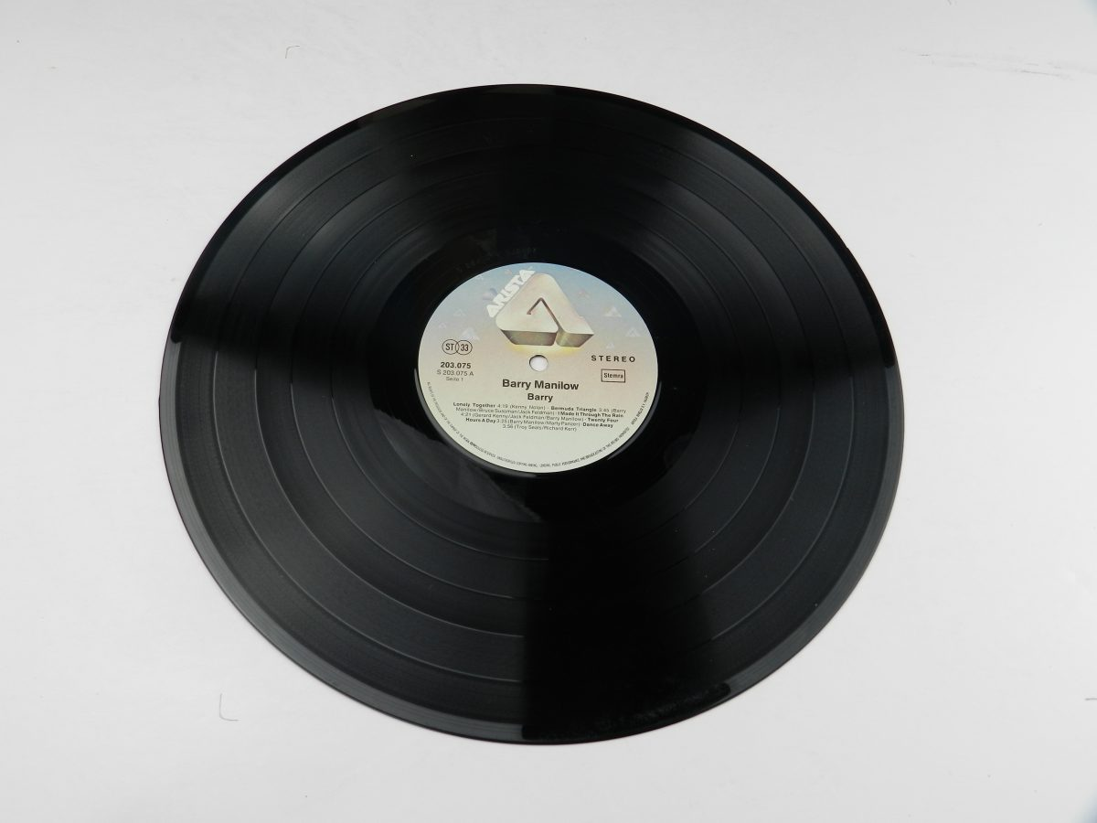 Barry Manilow – Barry vinyl record side A scaled