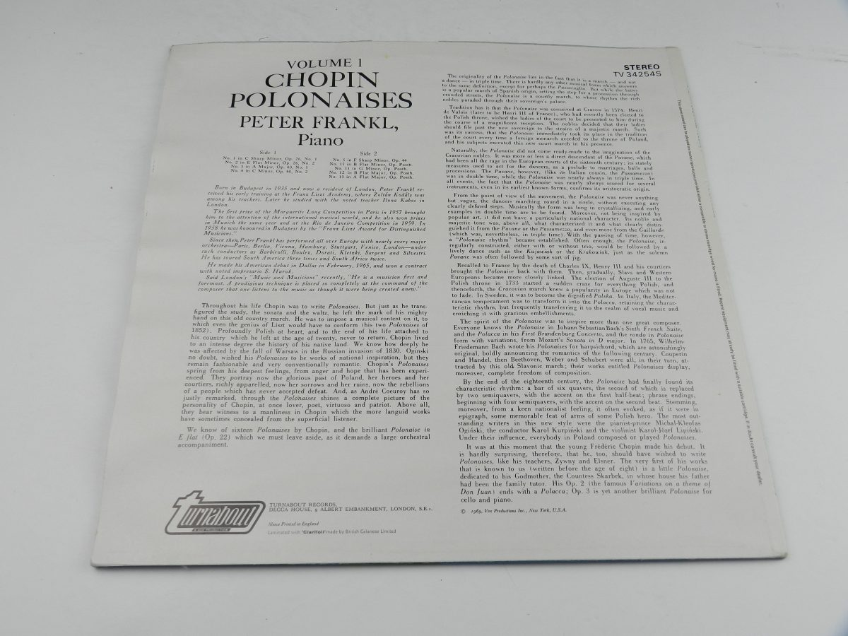 Chopin Peter Frankl – Polonaises Complete Volume I vinyl record sleeve rear scaled