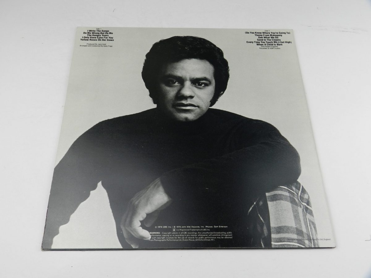 Johnny Mathis – I Only Have Eyes For You vinyl record sleeve rear