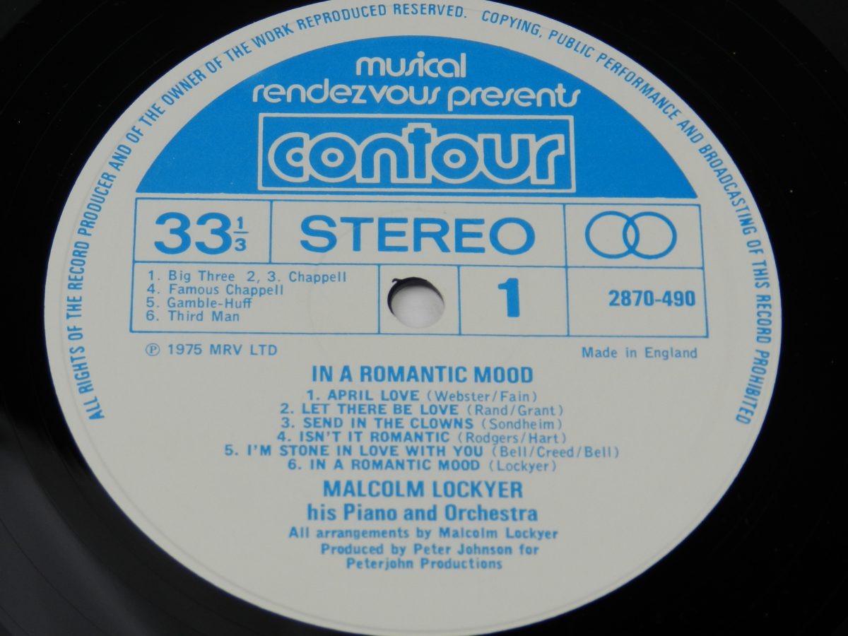 Malcolm Lockyer His Piano And Orchestra – In A Romantic Mood vinyl record side A label 1 scaled