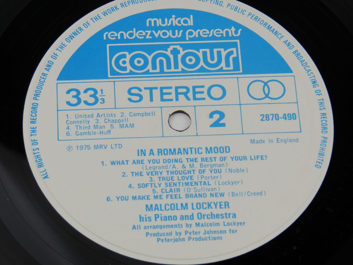 Malcolm Lockyer His Piano And Orchestra – In A Romantic Mood vinyl record side B label 1 scaled