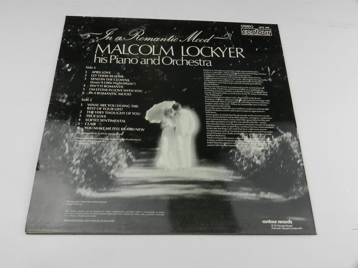 Malcolm Lockyer His Piano And Orchestra – In A Romantic Mood vinyl record sleeve rear 1 scaled