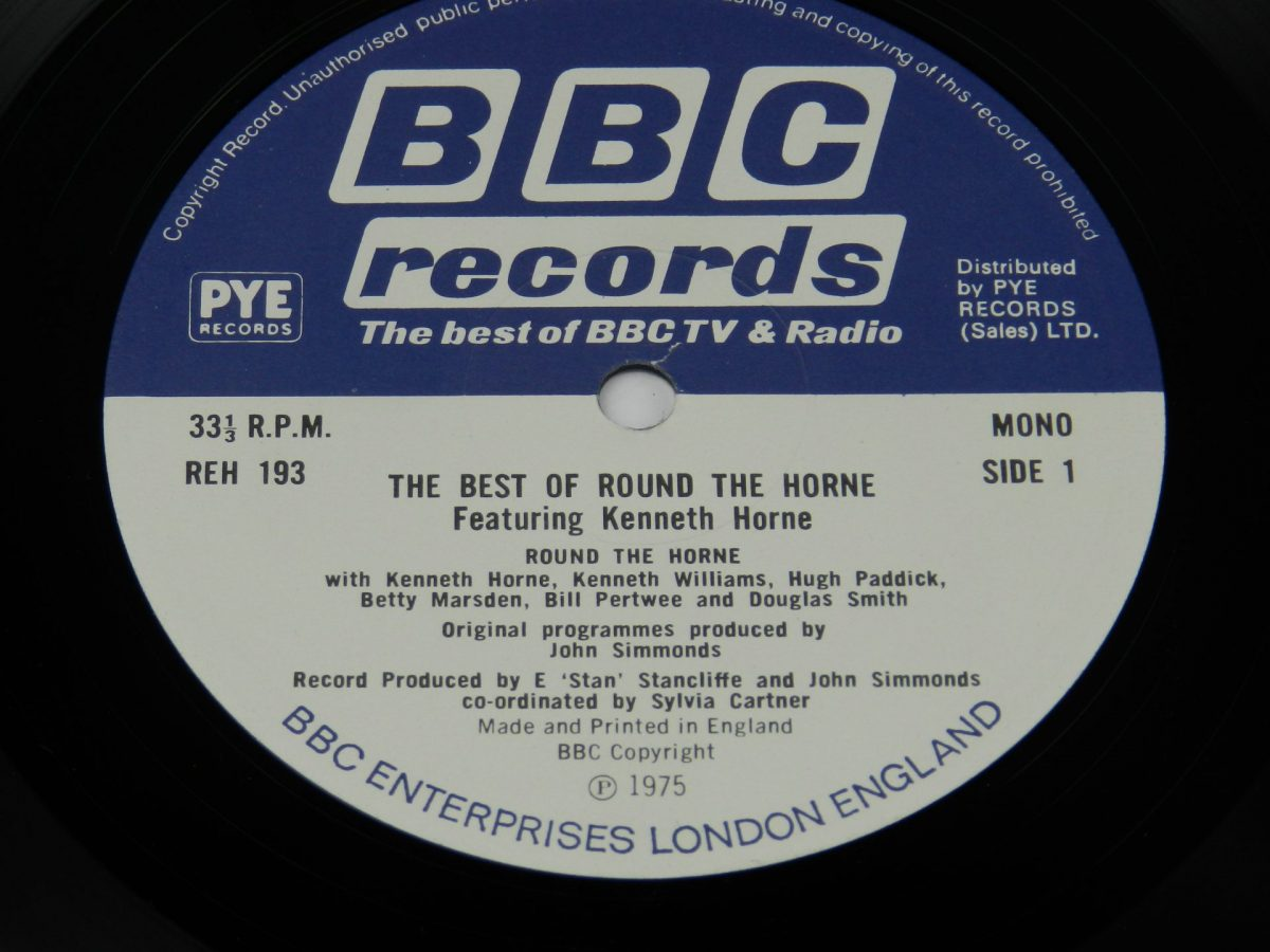 Round The Horne Featuring Kenneth Horne – The Best Of Round The Horne vinyl record side A label