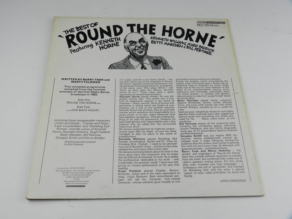 Round The Horne Featuring Kenneth Horne – The Best Of Round The Horne vinyl record sleeve rear