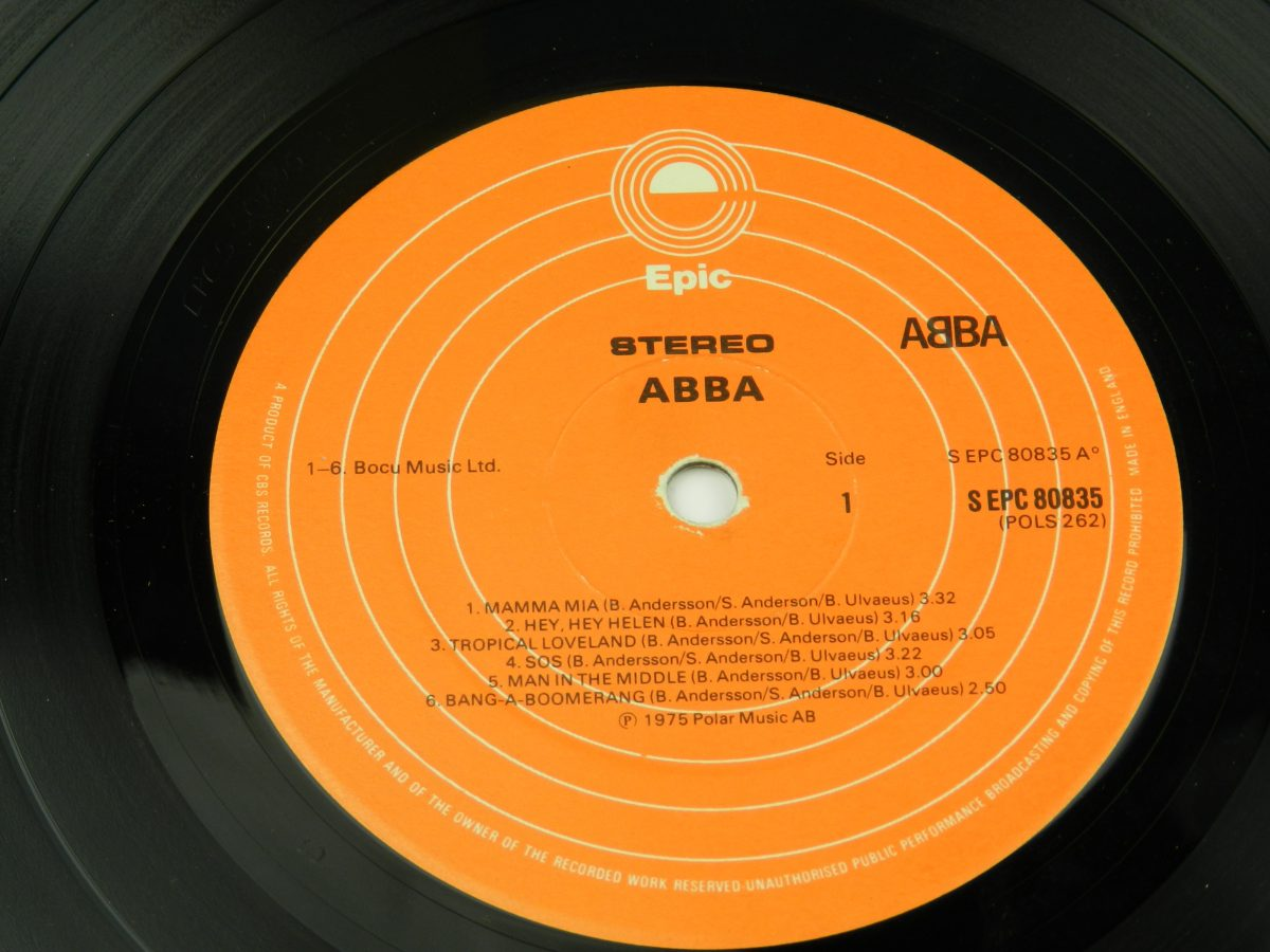 ABBA – ABBA vinyl record side A label scaled