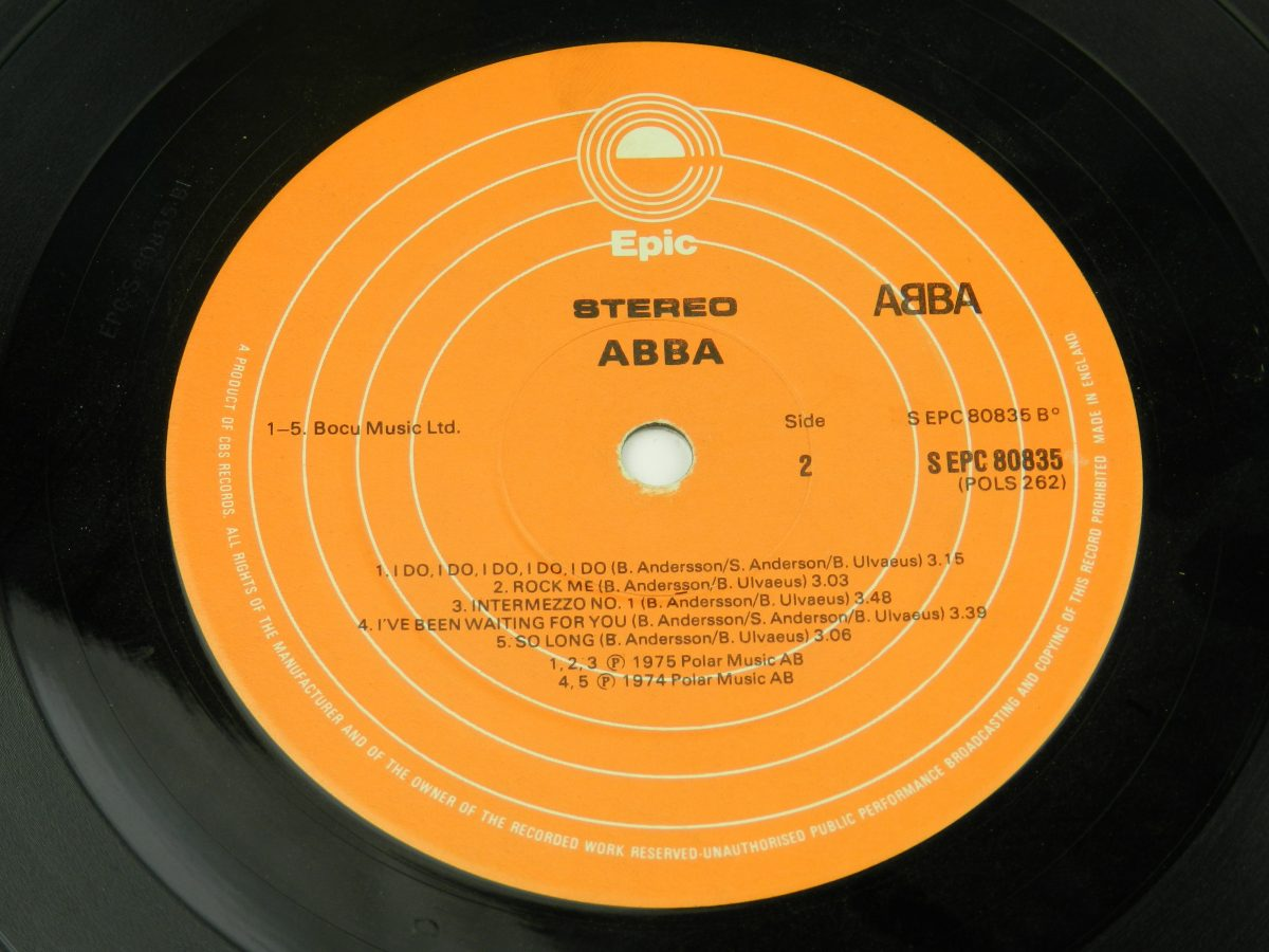 ABBA – ABBA vinyl record side B label scaled
