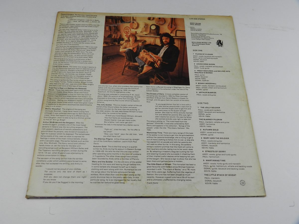 Andy Irvine Paul Brady – Andy Irvine Paul Brady vinyl record sleeve rear scaled