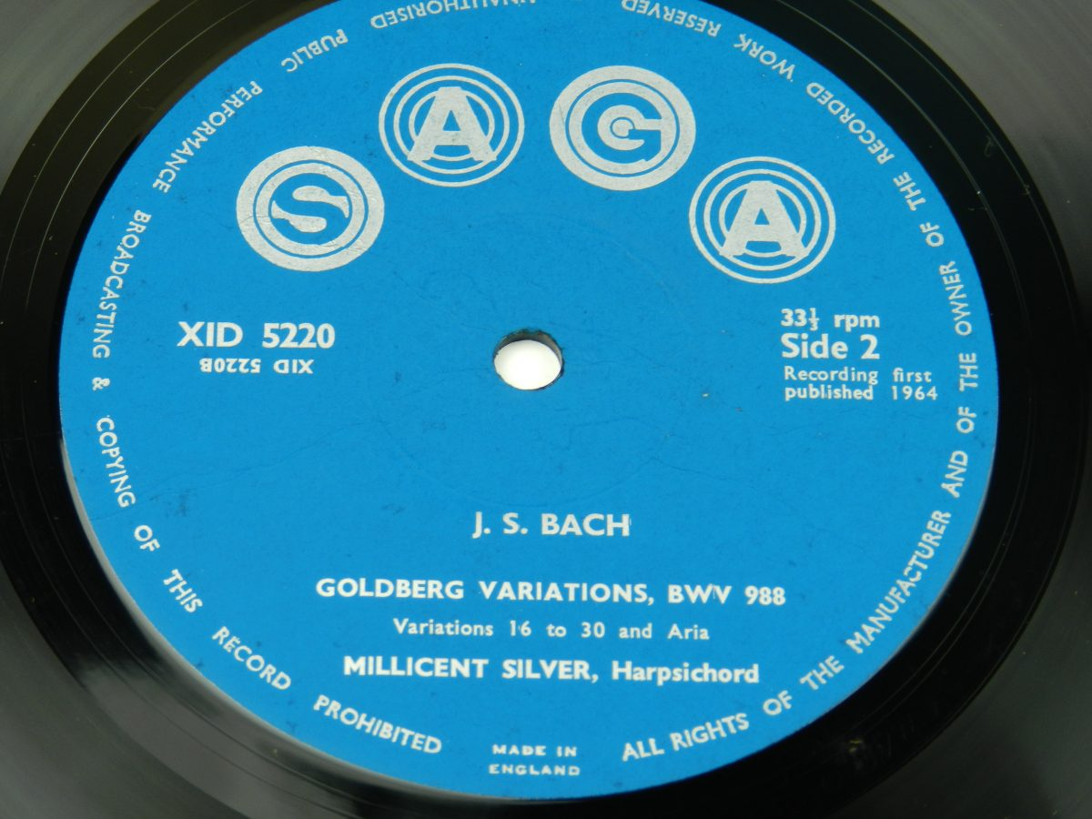 Bach Millicent Silver – The Goldberg Variations vinyl record side B label scaled