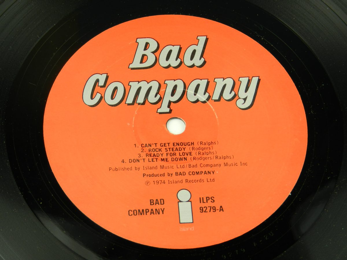 Bad Co – Bad Company vinyl record side A label scaled