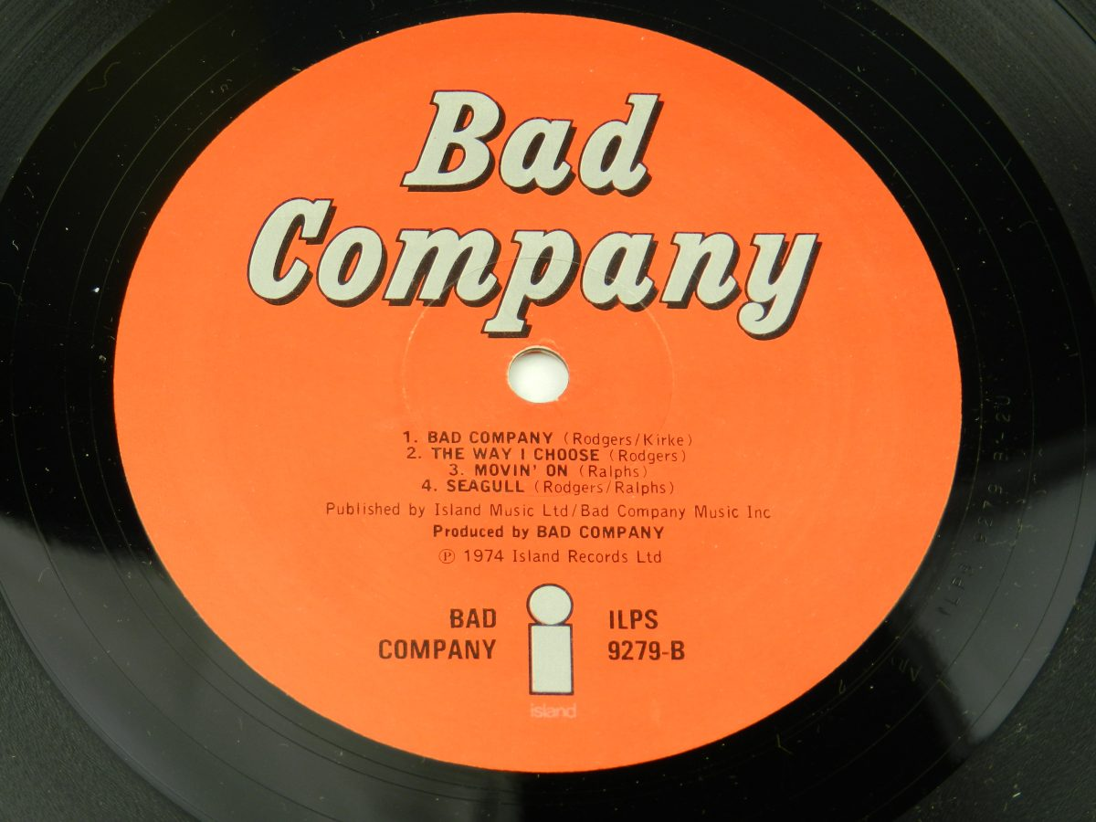 Bad Co – Bad Company vinyl record side B label scaled