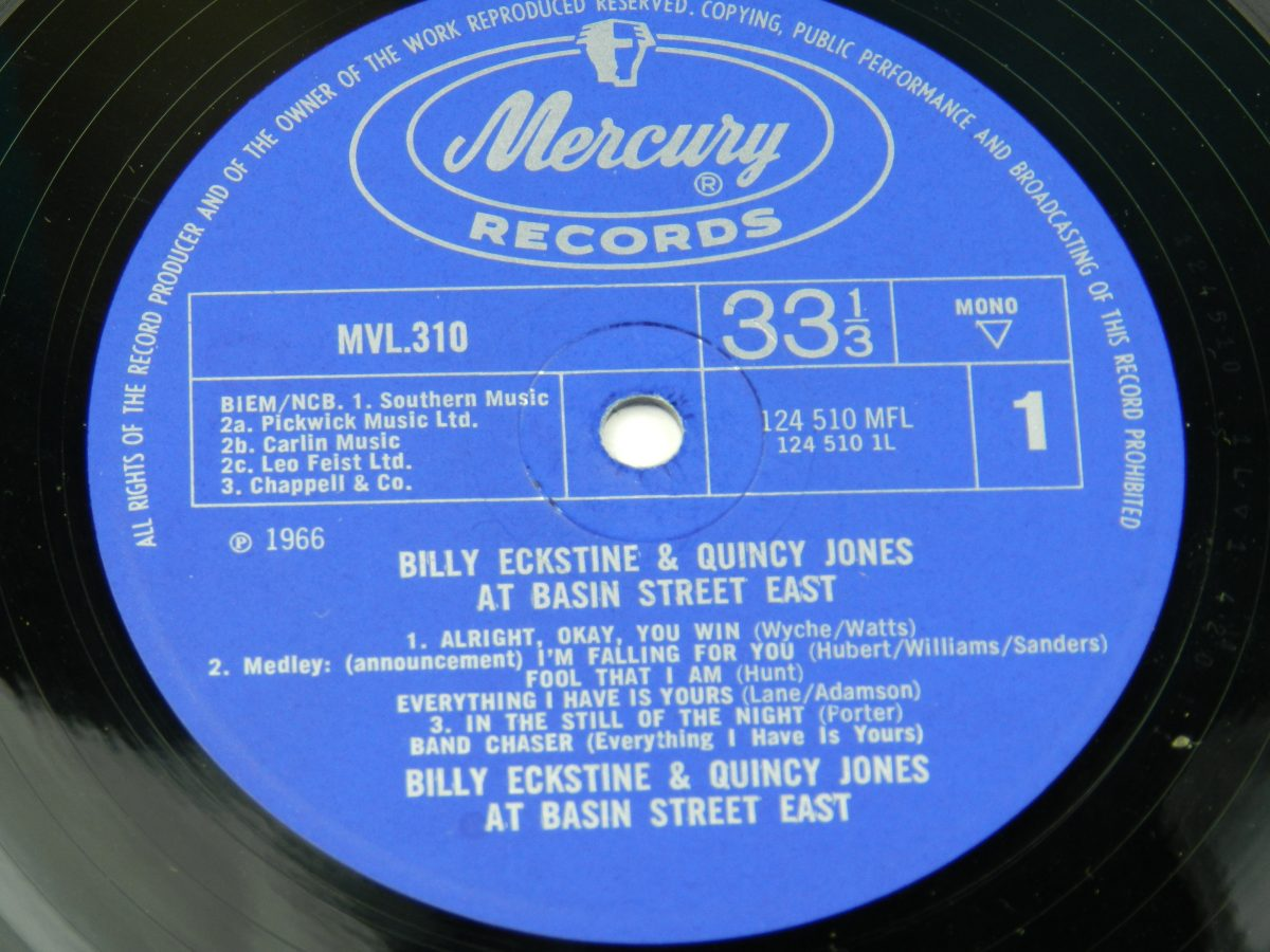 Billy Eckstine Quincy Jones – At Basin Street East vinyl record side A label scaled