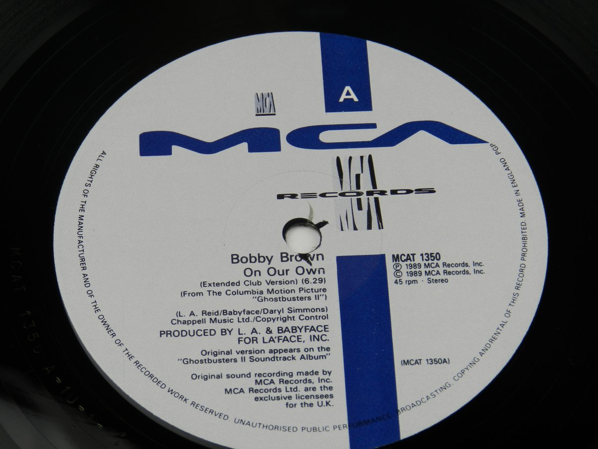 Bobby Brown – On Our Own vinyl record side A label scaled