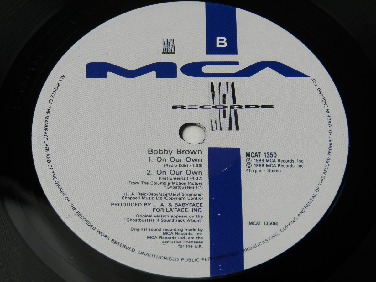 Bobby Brown – On Our Own vinyl record side B label scaled