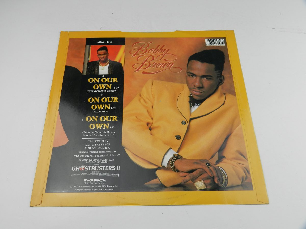 Bobby Brown – On Our Own vinyl record sleeve rear scaled