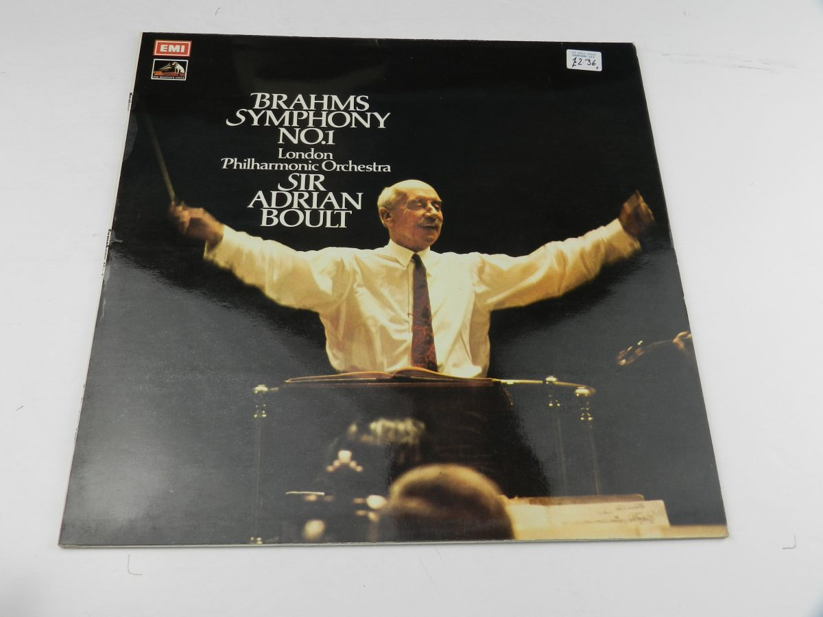 Brahms Sir Adrian Boult The London Philharmonic Orchestra – Symphony No. 1 C Minor Op. 68 vinyl record sleeve scaled