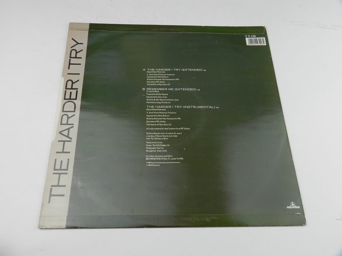 Brother Beyond – The Harder I Try vinyl record sleeve rear scaled