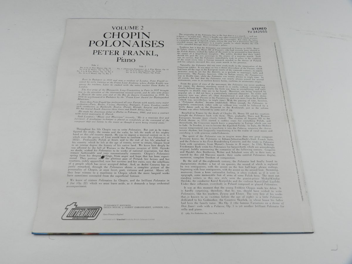 Chopin Peter Frankl – Polonaises Complete Volume 2 vinyl record sleeve rear scaled
