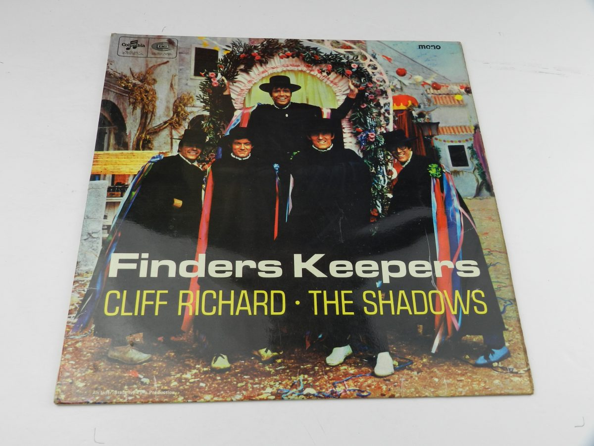 Cliff Richard And The Shadows – Finders Keepers vinyl record sleeve scaled