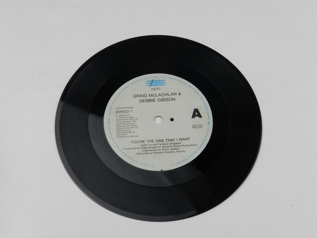 Craig McLachlan Debbie Gibson – Youre The One That I Want vinyl record side A scaled