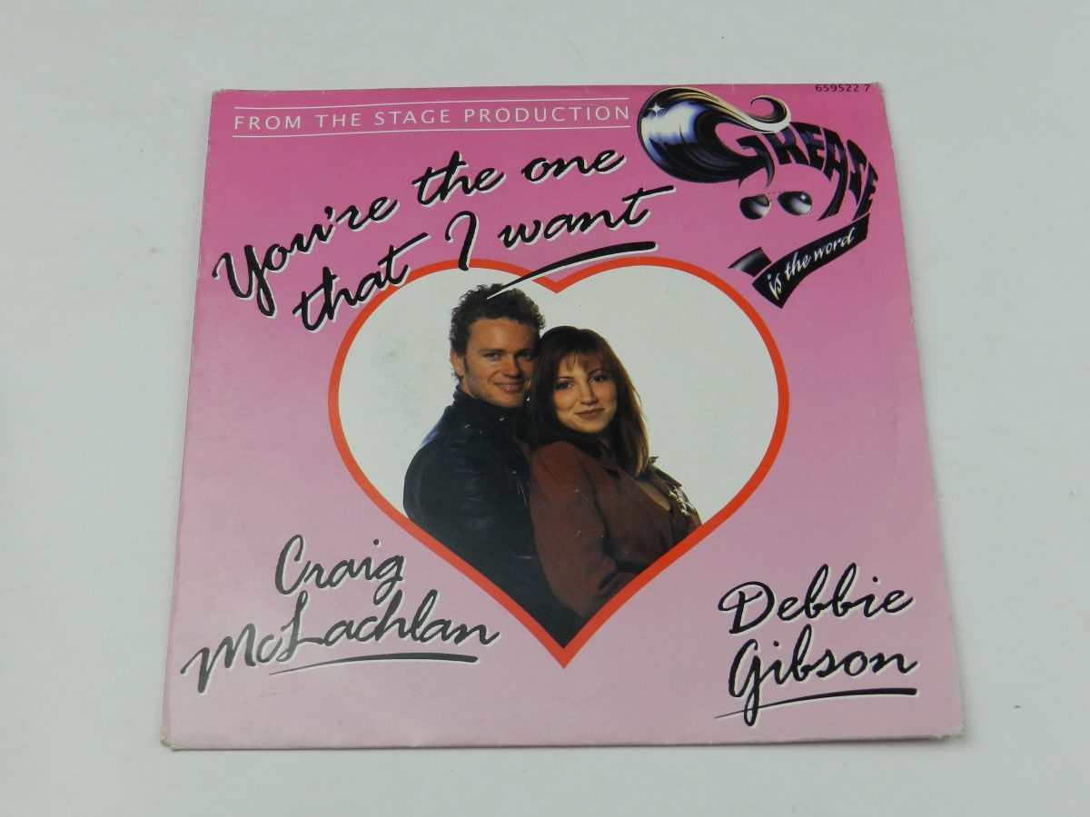 Craig McLachlan Debbie Gibson – Youre The One That I Want vinyl record sleeve scaled