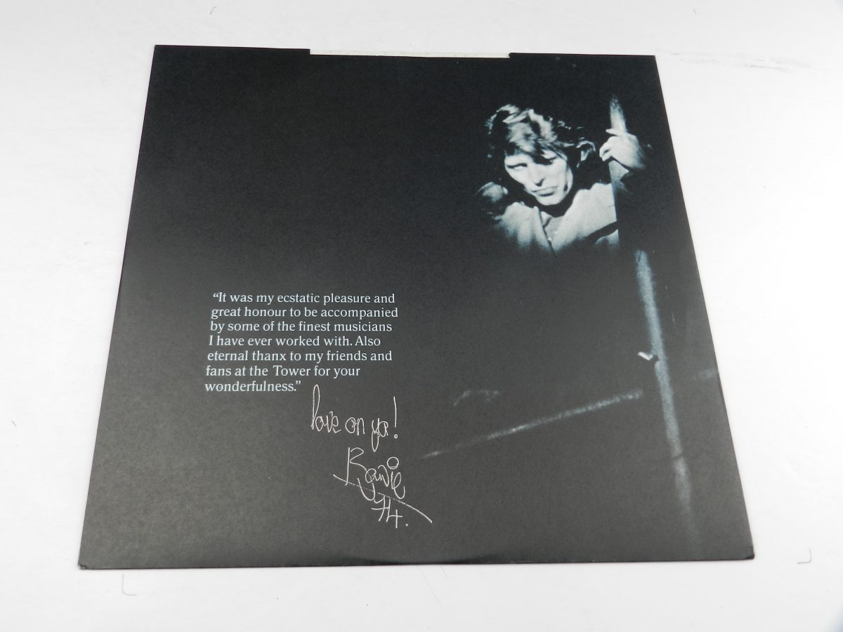David Bowie – David Live vinyl record sleeve inner 1 scaled