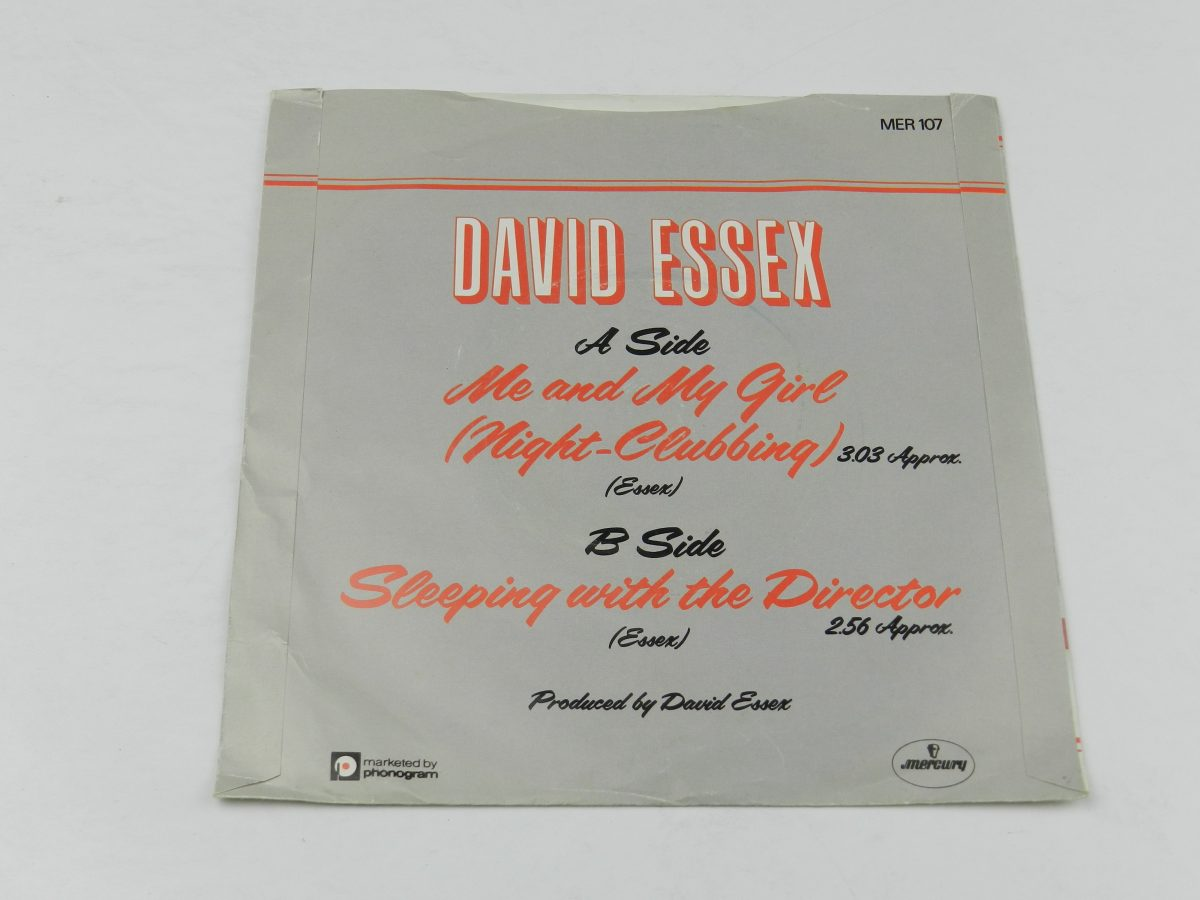 David Essex – Me And My Girl Night Clubbing vinyl record sleeve rear scaled