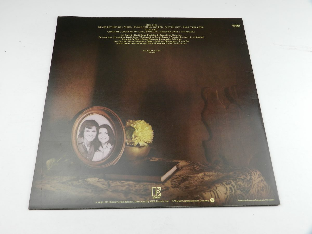 David Gates – Never Let Her Go vinyl record sleeve rear scaled