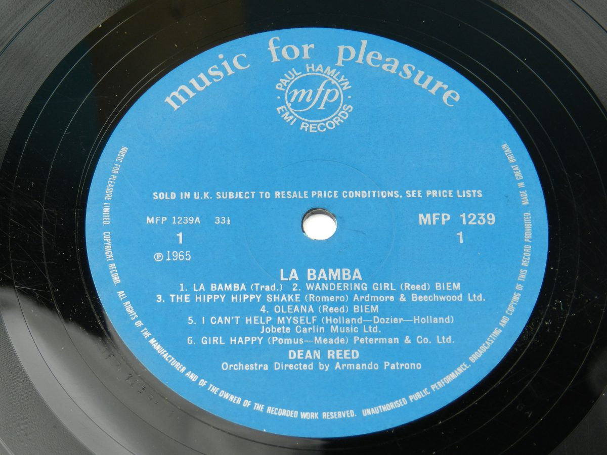 Dean Reed – La Bamba vinyl record side A label scaled