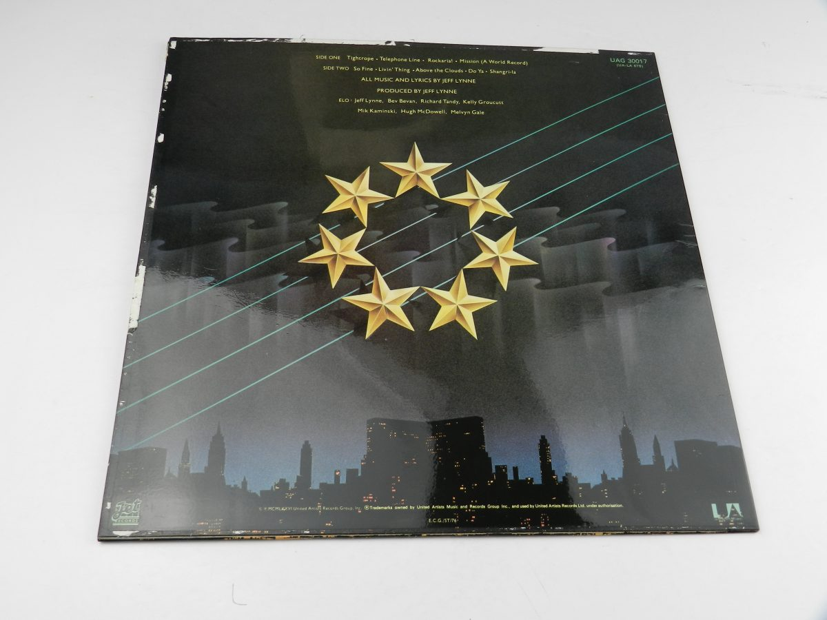Electric Light Orchestra – A New World Record vinyl record sleeve rear scaled