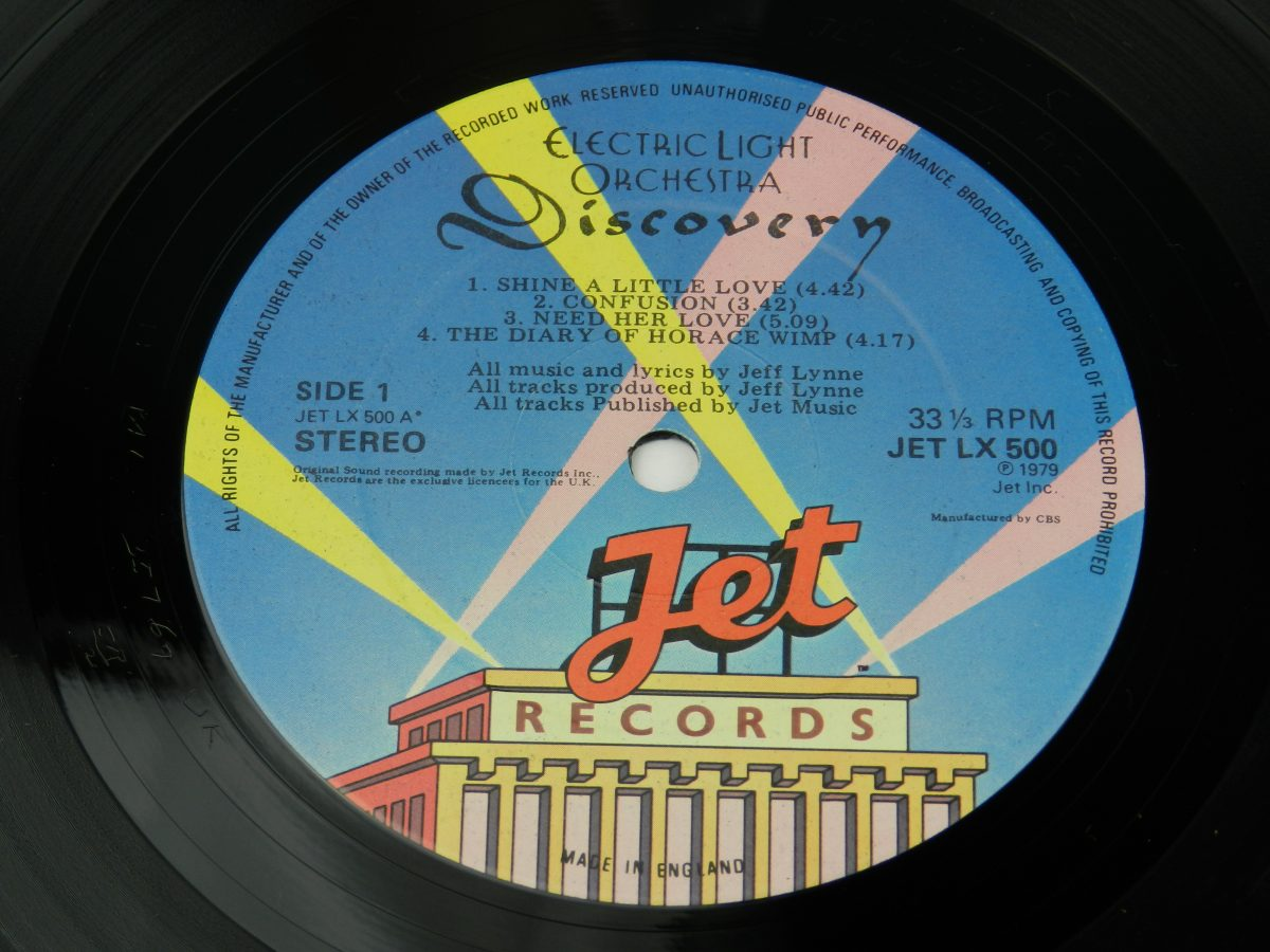 Electric Light Orchestra – Discovery vinyl record side A label scaled