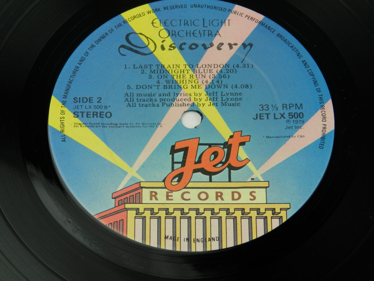 Electric Light Orchestra – Discovery vinyl record side B label scaled