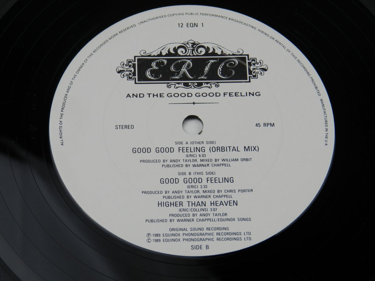 Eric And The Good Good Feeling – Good Good Feeling vinyl record side B label scaled