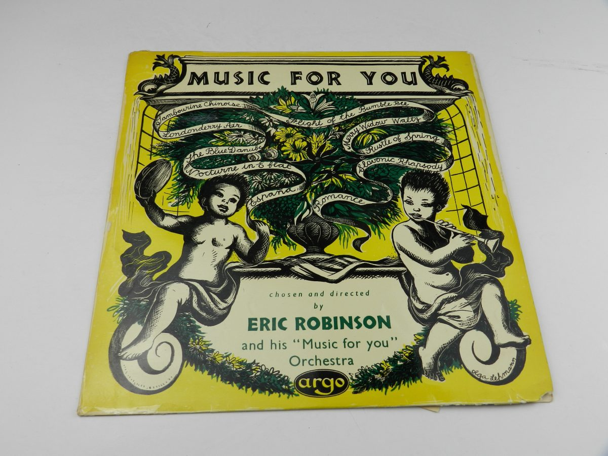 Eric Robinson And His Music For You Orchestra – Music For You vinyl record sleeve scaled