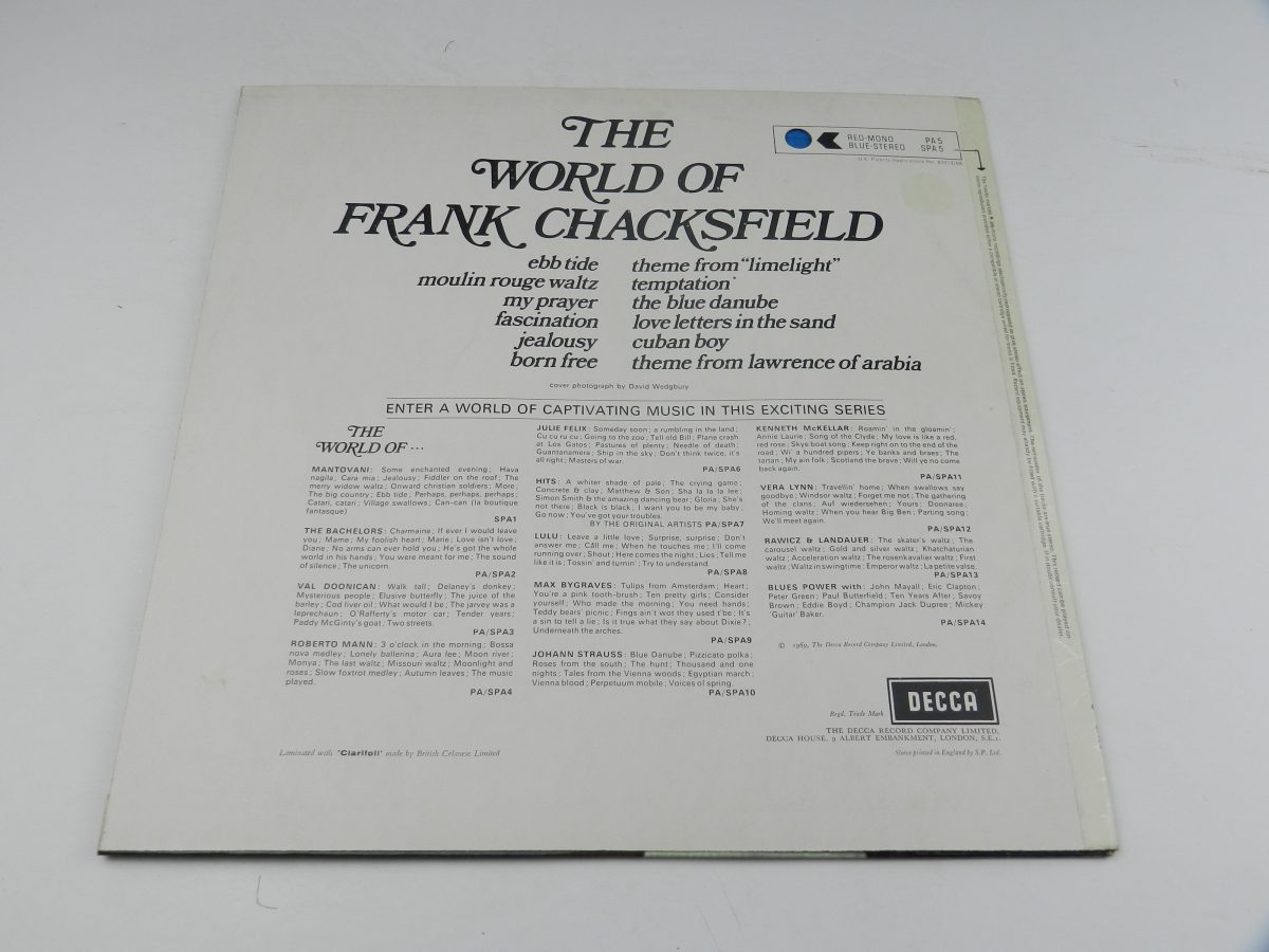Frank Chacksfield – The World Of Frank Chacksfield vinyl record sleeve rear scaled