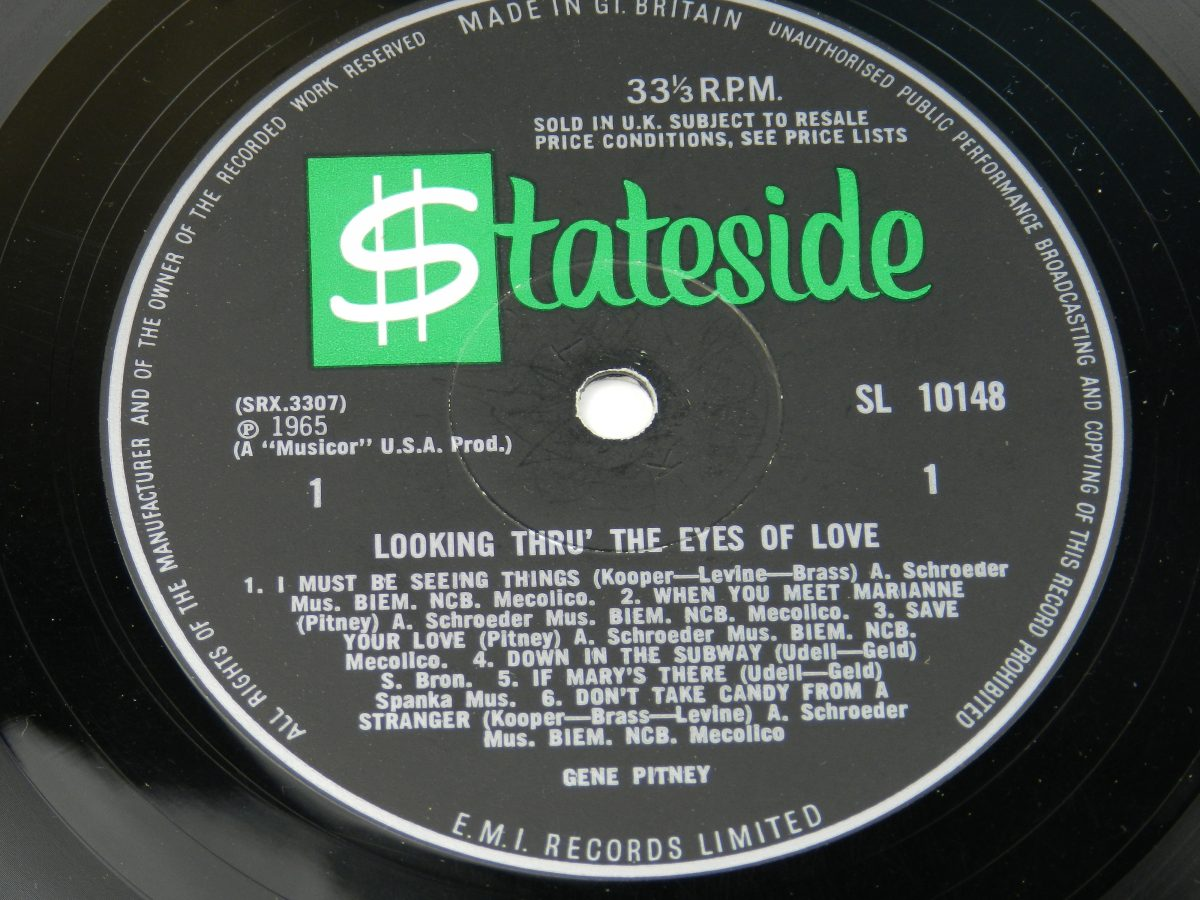 Gene Pitney – Looking Thru The Eyes Of Love vinyl record side A label scaled